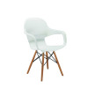 Arista Cafe Bistro Chair with Wire Base White KF78677