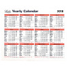 Letts Yearly Calendar 2018 5-TYC