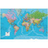 Map Marketing Giant World Political Framed Map GWLDF