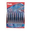 Pentel Superb Fine Ballpoint Pen Display Box Assorted (Pack of 36) BK77/36D