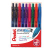 Pentel EnergelxRetractable Gel Rollerball Assorted YBL107/9-MIX