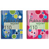 Pukka Fashion Recycled Notebook Wirebound A4 Feint Ruled with Margin 110 Pages Assorted KRCA4/110