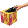 Le Cube Black Tie Handle Refuse Sacks With Dispenser 100 Litre (Pack of 75) 0481