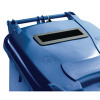 Blue Confidential Waste Wheelie Bin 240 Litre With Slot and Lid Lock 377892