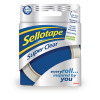 Sellotape Super Clear Tape 24mm x 50m Pack of 6 1443855