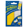 Sellotape Yellow/ White Sticky Loop and Hook Pads (Pack of 24) SE4542
