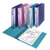 Snopake Polypropylene Executive A4 Ring Binder 25mm Electra Assorted (Pack of 10) 13377