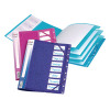 Snopake FileLastic 8-Part Elasticated File Electra Assorted (Pack of 5) 14965