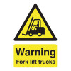 Safety Sign Warning Fork Lift Trucks A5 PVC HA23851R