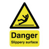 Safety Sign Danger Slippery Surface A5 Self-Adhesive HA16451S