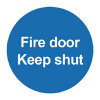 Safety Sign Fire Door Keep Shut 100x100mm PVC FR07002R