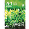 Silvine Recycled A4 Twin Wire Notebook Green 120 Pages (Pack of 5) R102