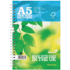 Silvine Twin Wire Notebook Blue A5 160 Pages Ruled (Pack of 5) R203