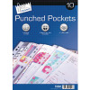 10 Punched Pockets (Pack of 12)