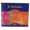 Verbatim 4.7GB Printable Jewel Case DVD-R (Pack of 5) 43521