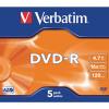 Verbatim 4.7GB 4x Speed Jewel Case DVD+RW (Pack of 5) 43246