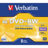 Verbatim DVD+RW 4x (Pack of 5) 43229