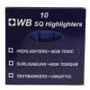 Blue Hi-Glo Highlighter Pens (Pack of 10) 844003