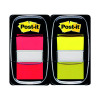 Post-it Index 1 Inch Red and Yellow (Pack of 2x50) 680-RY2
