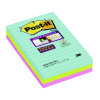 Post-it Super Sticky Lined Notes Miami XXL (3 Packs of 3) 3M811269