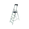 Werner Aluminium High Handrail 5 Tread Step Ladder 7410518