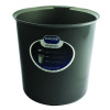 Addis Smart Round Bin Base 30L Metallic 503581