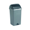 Addis Roll Top Bin 50 Litre Metallic AG813417