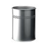 Durable 15L Cylinder Metal Bin Silver