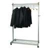 Alba Elegant Metal and Wood Garment Coat Rack PMLUX