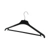 Alba Black Plastic Coat Hanger (Pack of 20) PMBASICPL
