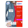 Avery Self Adhesive Name Badge 10TV White L4785-20