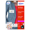 Avery Self Adhesive Name Badge White/Blue Border (Pack of 200) L4787-20