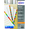 Avery Mylar Alpha Divider Bright White January-December A4 05138061