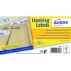 Avery Franking Label 140 x 38mm Kraft Brown (Pack of 500) FL17