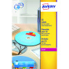 Avery Full Face Laser White DVD Label 2 Per Sheet Pack of 40 L7860-20