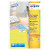 Avery Neon Yellow Laser Label 99.1 x 38.1mm 14 Per Sheet (Pack of 350) L7263-25