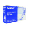 Brother Black Thermal Transfer Film Ribbon (Pack of 2) PC202RF