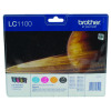 Brother LC-1100 Black /Cyan/magenta/Yellow Inkjet Cartridge (Pack of 4) LC1100VALBP