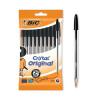 Bic Cristal Ballpoint Pen Medium Black (Pack of 10) 830864
