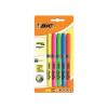 5 x BIC Highlighter Grip Assorted (Chisel tip provide line width of 1.6mm to 3.33mm) 894324