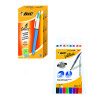 Bic 4 Colour Pens 12 Pack FOC Drywipe Markers 8 Pack BC810739