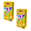 Bic 4 Colours Fashion Assorted Pack of 12 Buy One Get One Free (2 Packs of 12) BC810741