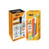Bic 4 Colours Ballpoint Pen (Pack of 12) FOC Bic Marking PRO Permanent Markers Black Pk12 BC810750