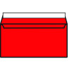 DL Wallet Envelope Peel and Seal 120gsm Pillar Box Red (Pack of 250) 93016