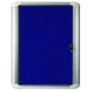Bi-Office External Display Case 626x670mm Blue Felt Aluminium Frame VT620107760