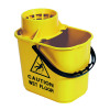 2Work Blue Plastic Mop Bucket with Wringer 15 Litre 102946BU