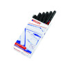 Edding 370 Fine Permanent Black Marker (Pack of 10) 370-001