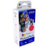 Epson Cyan/Magenta/Yellow/Light Cyan/Light Magenta/Black Inkjet Cartridges/Paper C13T557040 /T5570