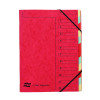 Europa 12 Part A4 Red Organiser 5224Z