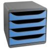 Iderama Blue 4 Drawer Set 310779D